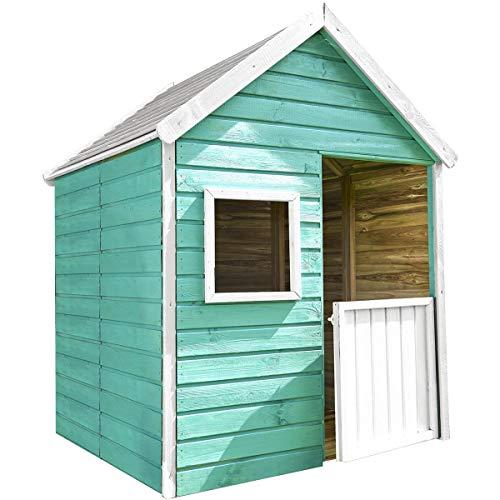 SOULET Spielhaus Marina (Gartenhütte, Holzhaus aus FSC zertifiziertem Kiefernholz, Kinderspielhaus für 3 Kinder) 02664