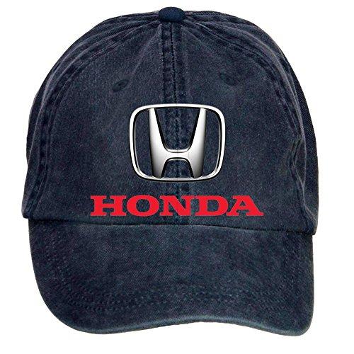 FENGTING Honda Fabricante de automóviles Logo Adulto Algodón Lavar Gorra de béisbol con Cierre de Velcro Ajustable Sombrero Tapas