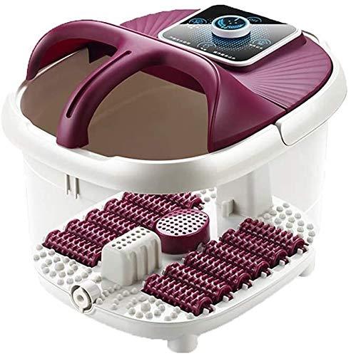 ZouYongKang Fußbad-Massagegerät mit Wärmeblasen-Vibrationen, 12shiatsu-Massieren von Rollen, um müde Füße zu entspannen, einstellbare Temperatur Pedikürebulde für Home Office-Gebrauch