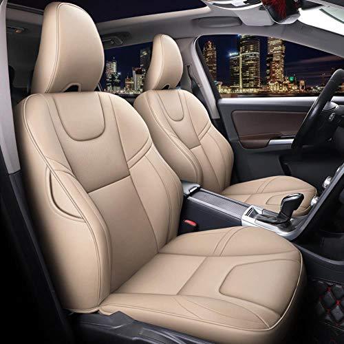 HIZH Funda de Cuero para Asiento de automóvil (Delantero + Trasero) para Volvo S40, S60, S80, S