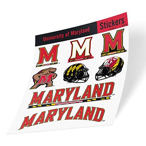 University of Maryland Terrapins UMD Terps Sticker Vinyl Decal Laptop Water Bottle Car Scrapbook (Type 2 Sheet C)