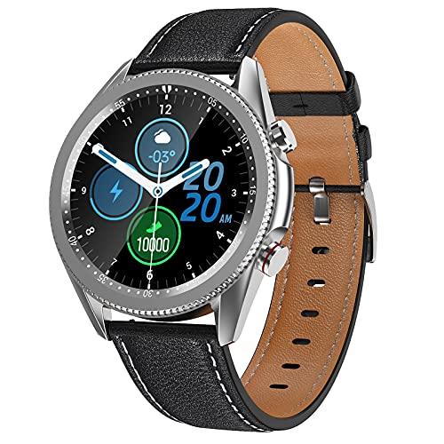 QFSLR Pulsera Actividad Inteligente, Reloj Inteligente Deportivo con Monitor De Frecuencia Cardíaca Llamada Bluetooth Monitor De Presión Arterial Monitoreo De Oxígeno En Sangre,Negro