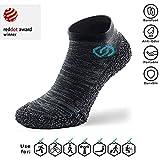 Skinners Barfußschuhe - Outdoor Indoor Sportschuhe - Barfuss Unisex Trekking Sock - Metal Grau (38-40)