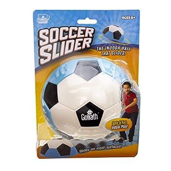 Goliath Sports Soccer Slider Soft Soccer Ball Shaped Foam Slider Effortlessly Glides Over Smooth Surfaces - for Indoor Game Play Blue