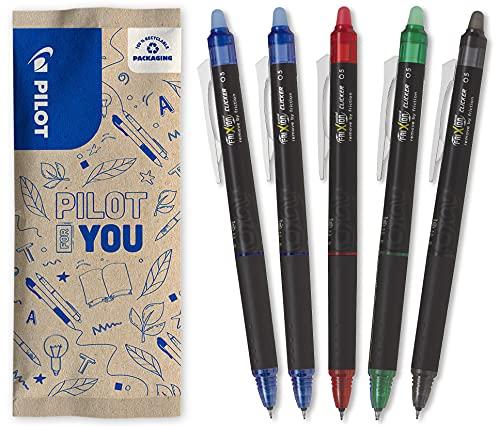 Pilot FriXion Point Clicker 0,5, Bolígrafo retráctil de tinta termosensible borrable, bolígrafo...