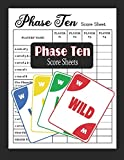 Phase Ten Score Sheets: Phase 10 Card Game