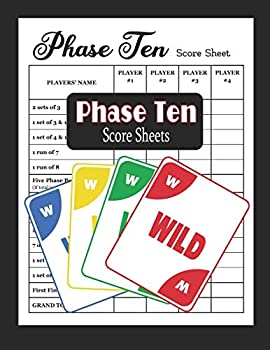 Phase Ten Score Sheets  Phase 10 Card Game