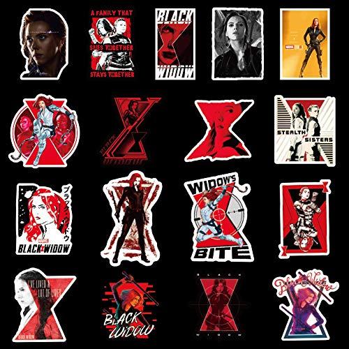 Black Widow Avengers Hero Pegatinas para maleta, portátil, guitarra, monopatín, 50 unidades
