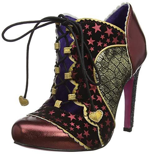 Poetic Licence by Irregular Choice Halston, Zapatos de tacón con Punta Cerrada para Mujer, Burgundy H, 7.5 EU