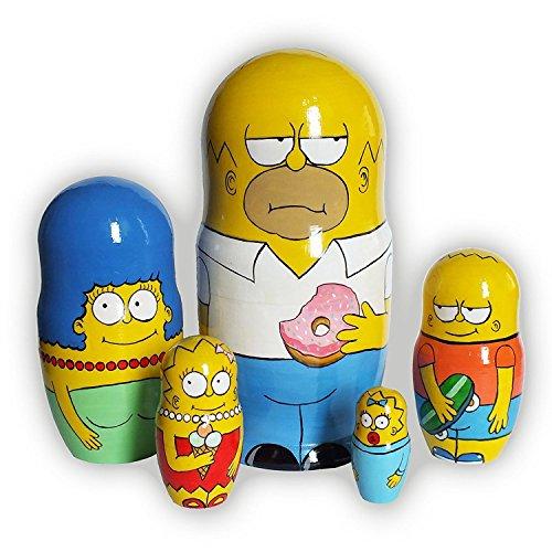 Collectible Nistkasten Puppen Simpsons Matrjoschka russische Puppe unterzeichnet handbemalt