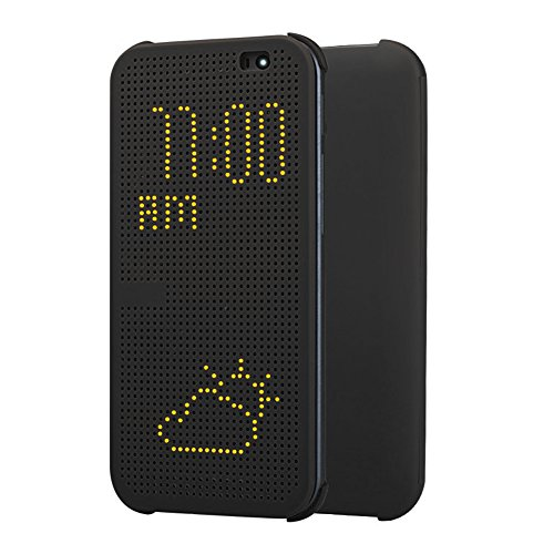 HTC Dot Flip Hülle Cover Case für HTC One (M8) - Grau