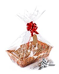 Allows you to make yourself a personal and a unique Gift Hamper Comes complete with Basket, Ribbon, Shredded Paper, Cellophane paper and Gift Tag Use for Christmas Present, Wedding, Baby Shower, Birthday Gift Christening, Anniversary, House warming o...