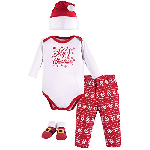 Hudson Baby baby girls Holiday Box Layette Set, My First Christmas, 0-6 Months US
