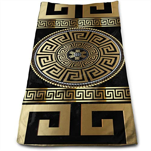3d Wallpaper With Greek Key Hand Towels Beach Towel Instant Cool Ice Towel Gym Quick Dry Towel Microfibre Towel Cooling Sports Towel 12 X 27.5 Inch