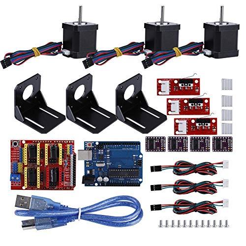 Pokerty CNC Module Kit, Professional 3D printer CNC Module Kit Stepper Motor Drive for Arduino