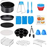8 Inch XL Air Fryer Accessories, 19 Pcs Deep Fryer Accessories with Recipe Cookbook for Growise Phillips...