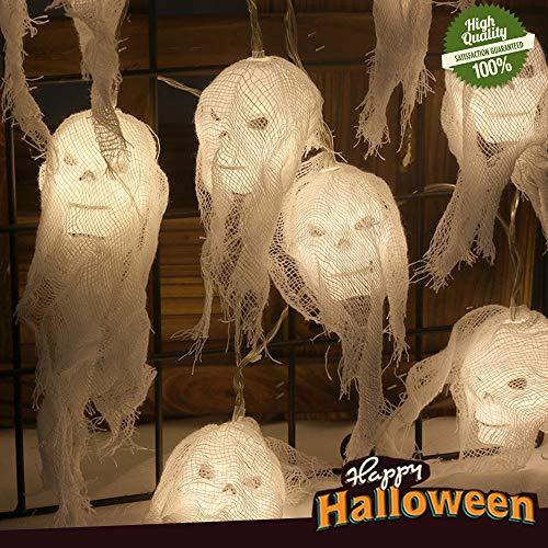 Halloween Horror Calavera Decoración Cadena de Luces LED, Morbuy Cálido Hada Guirnalda Luces Luz Para Jardín Fiestas Habitación Casa Embrujada Fiesta Temática Navidad (3.5M / 20LED)