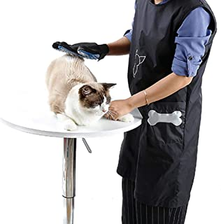 Apron,Anti-Static Pet Beautician Work Clothes Apron for Dog Cat Hairdressing Grooming Pet Store Beauty Robe Dress,Work Apron
