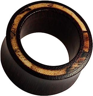 Chic-Net Legno Dilatatore intarsio di Legno di tamarindo Marrone Chiaro Plug Organic Orecchini Studs Orecchini