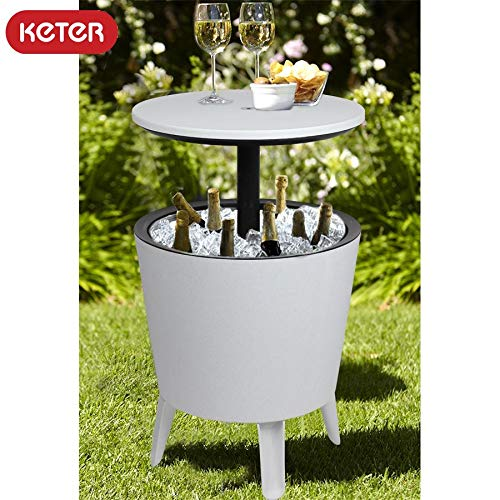 Keter Coolbar tafel statafel koelbox cocktailbar (wit)