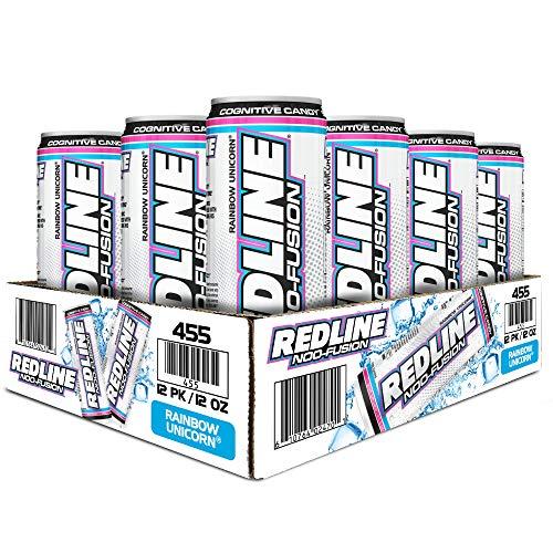 VPX Redline NOO-Fusion - Carbonated Preworkout & Cognitive Enhancing - Sports Nutrition Energy Drink with Caffeine, NOO-Fuel, Super Creatine, Amino Acids - 12 x 12 Fl Oz Cans (Cotton Candy)