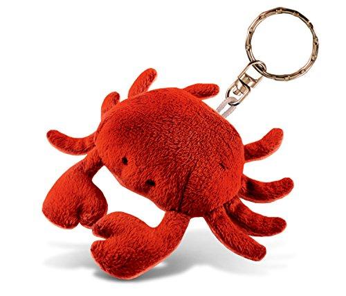 Puzzled Red Crab Plush Keychain Stuffed Animal Toy - Soft Fur Ocean Life Animal Crab Charm Keyring, Cute Decorative Plush Toy Accessory Fun Buddy for Kids Bag, Purse, Backpack, Handbag - 4 Inches