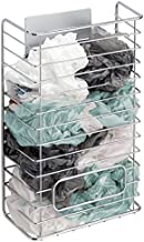 mDesign AFFIXX Organizador de Bolsas de plástico Plateado – Almacenaje para Bolsas de plástico – Práctica Caja metálica para el Bolsas - Metal