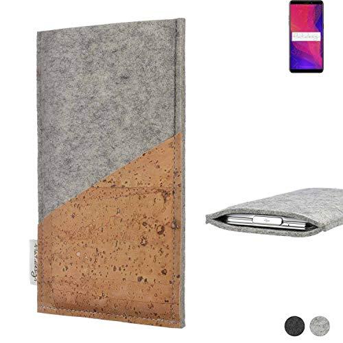 flat.design Handy Hülle Evora für Ulefone Power 3L Schutz Tasche Kartenfach Kork passexakt handgefertigt fair