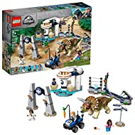 ROOTE LEGO Jurassic World Triceratops Rampage 75937, New 2019 (447 Pieces)