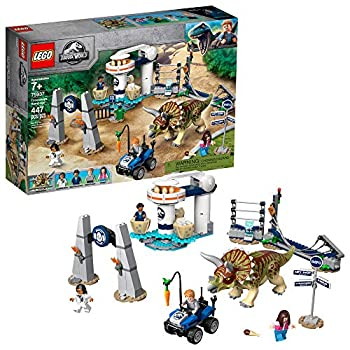 LEGO Jurassic World Triceratops Rampage 75937  447 Pieces