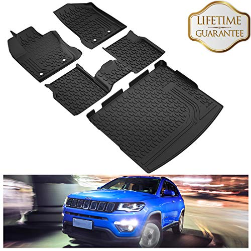San Auto Car Floor Mat for Jeep Grand Cherokee 2016-2017-2018-2019 Custom Fit Black//Green,Rubber Auto Floor Liner Mat All Weather Heavy Duty /& Odorless