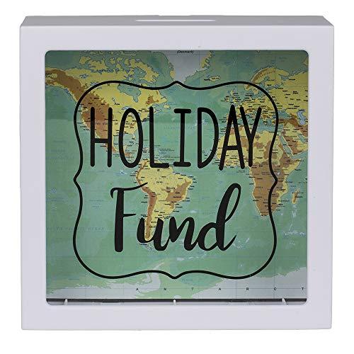 ootb Spardose, Holiday Fund, Weiß, 15 cm