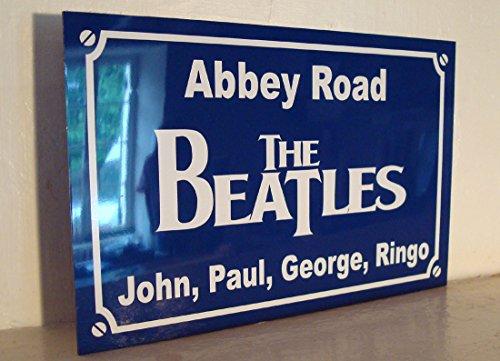 The BEATLES abbey road Plaque de rue création collector edition limitée cadeau original