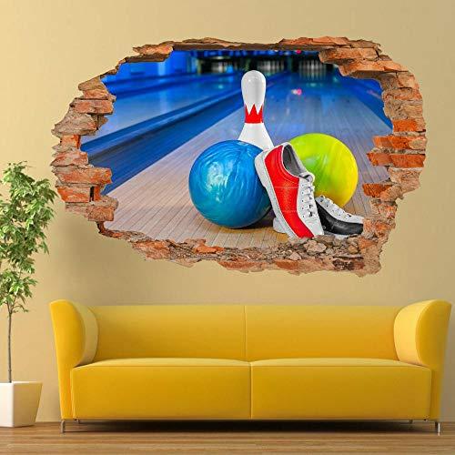 Pegatinas de pared BOLAS calzado deportivo BOWLING pegatinas de pared 3D ARTE MURAL DE LA OFICINA DE TALLER DECORACIÓN 70 * 100CM