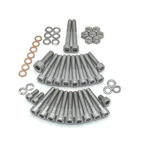 SIMSON S51, S70, SR50 SR80 KR51/2 moteur Kit de vis tête cylindrique Vis avec six pans creux en acier inoxydable, 49 pièces