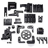 FYYONG Control de Las impresoras de alimentación de filamento ABS Negro Negro Impreso 3D Accesorios porciones de DIY Kit for RepRap Prusa i3 3D