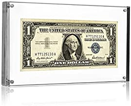 Currency Display - Self Standing Acrylic Frame - 7.5