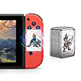 NFC Tag Game Cards for the Legend of Zelda Breath of the Wild Switch/Wii U - 24pcs Mini Cards with Crystal Case