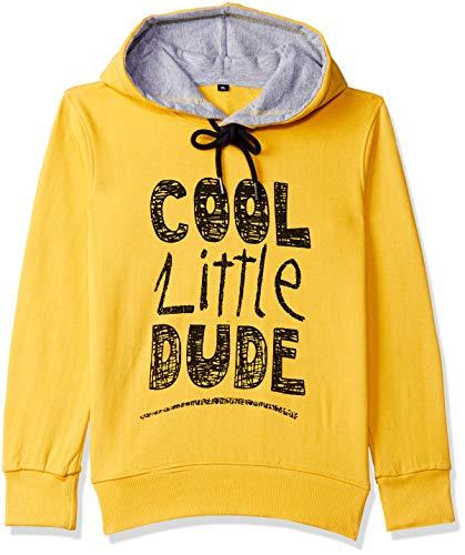 ESNINO Boy's Cotton Round Neck Sweatshirt (Yellow, 3-4 Years)