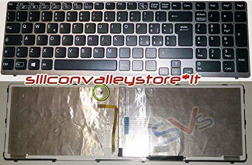 Siliconvalleystore Tastiera Italiana Retroilluminata Antracite per Notebook Sony Vaio SVE1512X1ESI