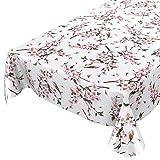 ANRO Wachstuch Tischdecke abwaschbar Wachstuchtischdecke Wachstischdecke Sakura Vogel 100x140cm