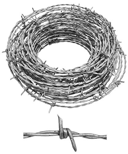 Real Barbed Wire 60ft 15.5 Gauge - Great for...