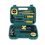 Casa Herramienta de reparación Set de herramientas de combinación portátil 9 piezas Set Multifuncional Hardware Reparación Caja de herramientas