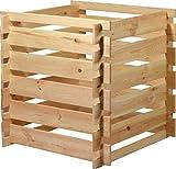 dobar 58600FSCe Quadratischer Holz-Komposter Stecki, Kompostbehälter mit Stecksystem, 78 x 78 x 78 cm, Kiefer, Natur