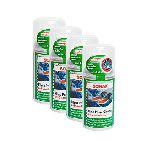SONAX 4X 03231000 KlimaPowerCleaner Klimaanlage Reiniger Antibakteriell 100ml