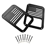 Hooke Road JK Tail Light Cover Taillight Guard US Flag Cage Compatible with Jeep JK Wrangler & Wrangler Unlimited 2007-2018 - Pair (Black,Old Glory)