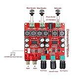 ARCELI Placa de amplificador de potencia digital TPA3118 2.1, 30W + 30W + 60W (bajo) Amplificador de audio estéreo binaural BTL 60W, Estéreo de amplificador para aplicaciones de cine en casa y altavoz activo