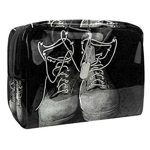 Bolsa de cosméticos para Mujeres Zapatos Viejos Bolsas de Maquillaje espaciosas Neceser de Viaje Organizador de Accesorios