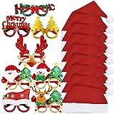 8 Gafas Divertidas Navidad 8 Gorros Navideño Papá Noel Sombreros Navideños Fotocol Navidad Disfraz Regalo Accesorios Navideño Decoración Adultos Niños