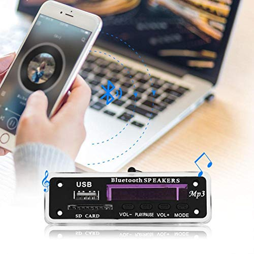 Shipenophy Amplificador de Sonido 1 par de Altavoces Unidad de Altavoz de TV de 5 W para portátil LCD para Tableta